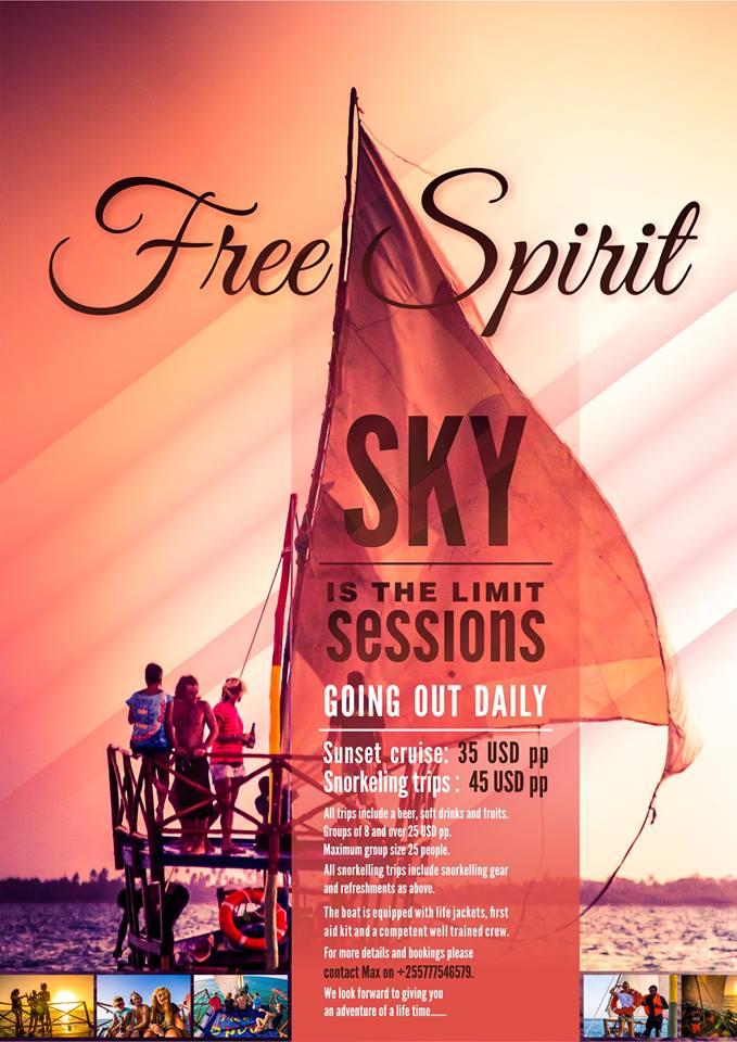 free spirit michamvi sundowner trip